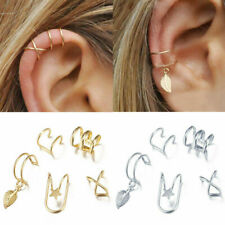 5x Ear Cuff Clip On Earrings Fake Cartilage Earring Non-Piercing for Women Men