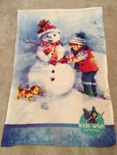 Kids Wish Network Throw Blanket Multicolor Pastel Poly 33�x 49� Nip Heartwarming