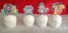 16 DORA THE EXPLORER EDIBLE CUPCAKE TOPPERS