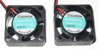 2 X Sunon 20 mm Fan - 5 V DC Fan - KDE0501 - 1.2 CFM - 9000 RPM - 8 mm Thick