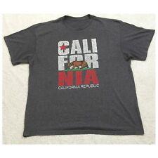 2XL California Gray Short Sleeve Cotton Crewneck Mans Graphic T-Shirt XXL X14