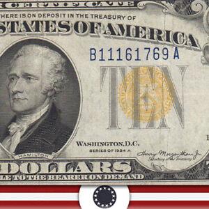 1934-A $10 NORTH AFRICA Silver Certificate WWII BILL  Fr 2309 B11161769A-UUT