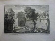 Giuseppe Vasi- Porta Chiusa Querquetulana-acquaforte originale Roma 1760