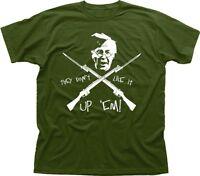 Dads Army Home Guard Captain Mainwaring printed t-shirt FN9378