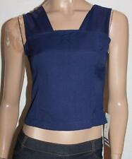 LE SECRET Designer Navy Sleeveless Fitted Top Size 10 BNWT #so99