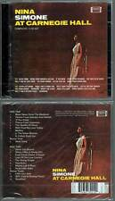 "NINA SIMONE ""At Carnegie Hall"" (2 CD) 2005 NEUF"