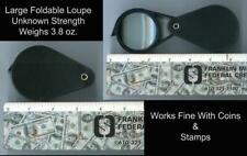 Foldable Large Black Coin Loupe Magnifier