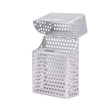 Silver Aluminium Mesh Metal Cigarette Storage Box with Magnetic Lock. Holds 20