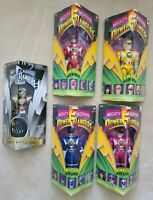 "1995 UNOPENED Bandai Mighty Morphin Power Rangers Vintage 8"" 5 Action Figure Lot"