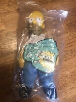 VINTAGE 1990 Burger King The Simpsons HOMER SIMPSON STUFFED DOLL W/tag Sealed