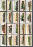 1912 Lambert & Butler World's Locomotives Tobacco Cards Complete Set of 25