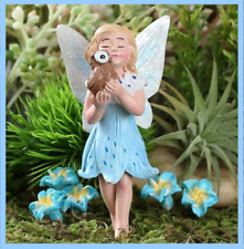 Miniature Garden Dollhouse Easter Athena the Fairy and Pet Owl 571