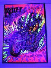 Vintage Blacklight Poster KOTH DARK ANGEL EARTH IS HELL Chopper MOTORCYCLE Cool