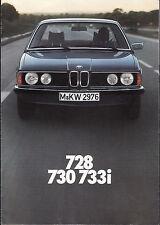 BMW 728 730 733i SALES BROCHURE     fg