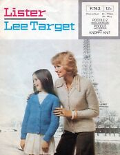 """~ Vintage 1970's Knitting Pattern For Lady & Girl's Boucle Cardigan ~ 24"""" ~ 44"""""""