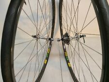 Vintage Shimano Dura Ace 700C Mavic MA40 7sp.Wheelset W/Freewheel,Tires,SUPERB!