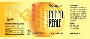 PAPPA REALE  - Pappa reale fresca e pura da 10gr - 100% Apicoltura Italiana