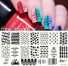 BORN PRETTY Nagel Schablone Nail Art Stamp Template Plates BP-L012 12.5 x 6.5cm