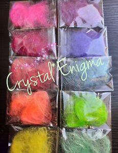 Angelina Fibres Heat Bondable Fusable Rainbow Colours Starter Kit