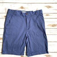 Basic Editions Boys Navy Blue Flat Front Pants 12 Husky School Uniform NWT