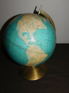 "VINTAGE DESK 16"" HIGH RAND McNALLY WORLD TABLETOP GLOBE"