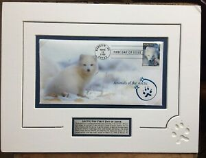 ARCTIC FOX First Day of Issue Stamp Barrow AK Mar 12, 1999 Animals of the Arctic