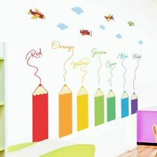 Colorful Pencil Crayon Wall Stickers Kids Room Home Decoration Removable Sticker