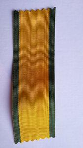 Ruban pour la Médaille Militaire Second Empire. Retissage. 37 mm. Coupe 12 cm.