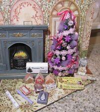 DOLLHOUSE MINIATURE CHRISTMAS TREE #33 (PURPLE & PINK) --OOAK