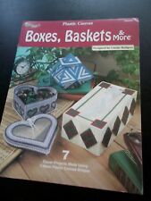 Boxes, Baskets & More Plastic Canvas Leaflet The Needlecraft Shop 842535