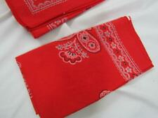 """New Red Paisley 17"""" Square Set of 7 Cotton Napkins Finished Edges"""
