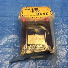 Sealed Vintage Mini Mail Box Coin Bank With Key Tin Made In Japan