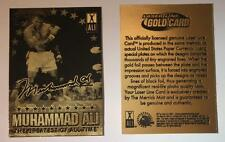 MUHAMMAD ALI 2009 Laser Line Gold Card NM-MT Limited Edition OFFICIALLY LICENSED