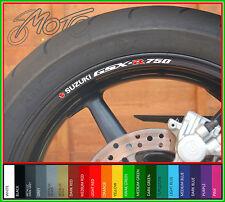 8 X Suzuki Gsxr 750 Rueda Llanta Calcomanías Stickers-elección de colores-Gsxr750 Gsx R