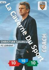 FCL-02 CHRISTIAN GOURCUFF # FC.LORIENT CARD ADRENALYN FOOT 2014 PANINI