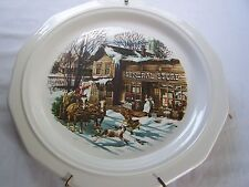 """AMWAY 1981 """"THE GENERAL STORE""""  COLLECTOR  PLATE PFALTZGRAFF JOHN HUNTER LE"""