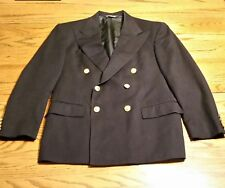Polo by Ralph Lauren Doeskin Double Breasted Blue Blazer 42 Regular Gold Buttons
