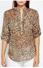 Zara Animal Print Leopard Tops & Shirts for Women