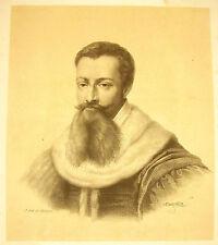 LITHOGRAPHIE Jean-Bap MAUZAISSE portrait à identifier (Potin ?) 1823  Delpèche