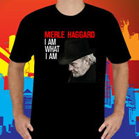 Merle Haggard *I Am What I Am Music Legend Men's Black T-Shirt Size S to 3XL
