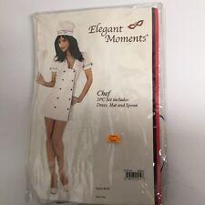 Elegant Moments Size M Chef Costume 100% Cotton