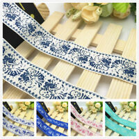 NEW DIY 5 Yard 1'' 25mm Flower Printed Grosgrain Ribbon Hair Bow Sewing