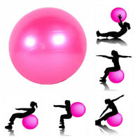 Women Yoga Exercise Ball Air Pump Anti-Burst Gym Pilates Balance Fitness Train