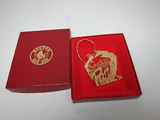 Boston Red Sox Christmas Ornament 1992 Season Ticket Brass Tree Fenway in Box