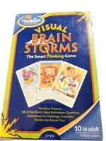 New ThinkFun Visual Brainstorms The Smart Thinking Game 100 Challenges Complete