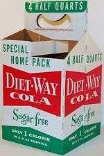 Vintage soda pop bottle carton DIET WAY COLA 4 pack half quarts unused n-mint