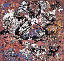 """Tie-Feng Jiang   """"Mysterious and Ancient""""   Serigraph on Deckled Paper        BA"""