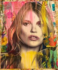 MR CLEVER ART KATE MOSS SUPERHERO MODELS hand finished street art contemporary