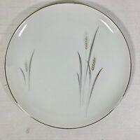 Vintage Dinner Plate FINE CHINA OF JAPAN Platinum Wheat