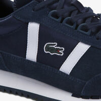 Lacoste Partner Retro 120 1 Mens Casual Blue Leather Flat Sneakers 39SMA0023-092